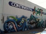 The mural on the rear wall of Continental Art Supplies