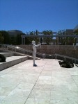 A sculpture on the way into the Getty