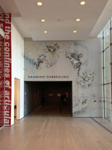 Entrance to the Drawing Surrealism show