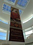 Banner for a show at the Getty
