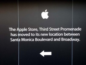 The Apple Store moved down the street