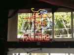 The Fat Tire Beer sign at the Reel Inn