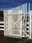 A gate on Malibu Pier