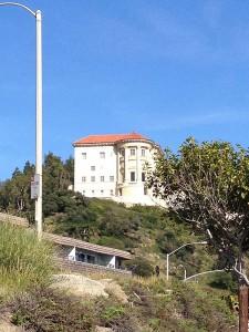 Getty Villa from the beach