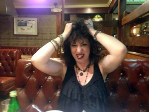 Aviva at dinner