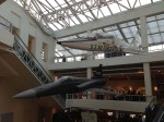 Two jets hanging in the main lobby