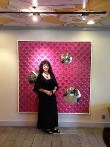 Aviva in the lobby of the hotel