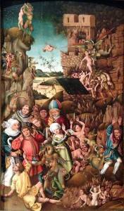 A painting of the Last Judgement