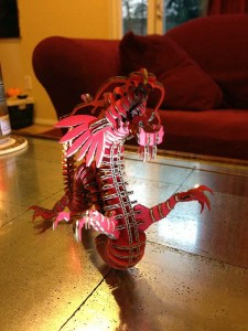 Front view of the red dragon