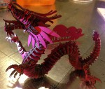 Side view of the red dragon