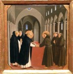 """Fra Angelico, """"Meeting of St. Francis and St. Dominic,"""" c. 1430"""