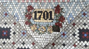 A neat entry way mosaic on the Haight