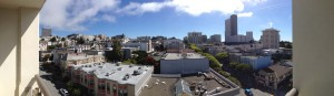 Panorama from our hotel room window