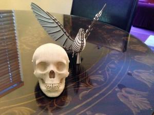 Miniature Vince skull and d-torso pigeon paper kits