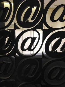 Detail of a screen at the Saks Fifth Avenue store in Palm Desert