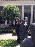 Aviva with statue
