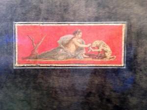 Roman woman feeding a jaguar