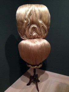 A cool piece of hair art at Made in LA 2014