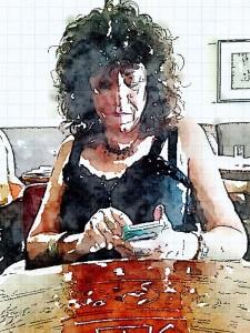 Aviva painted in Waterlogue