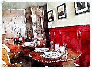 Tagine painted in Waterlogue