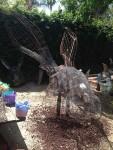A big wire frame bunny head
