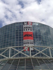 The banner for Anime Expo