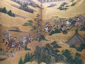 A battle scene detail from a scroll