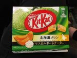 Cantalope KitKats - the flavor for Hokkaido, avialable in the airport