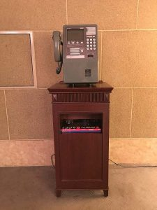 An old public telephone