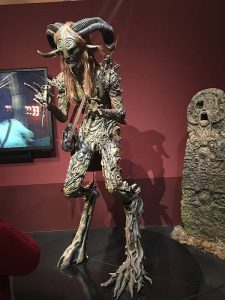 A statue of a figure from Pan's Labyrinth