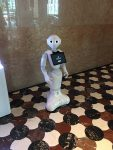 A robot at the Hyatt to help you find photo locations in Tokyo