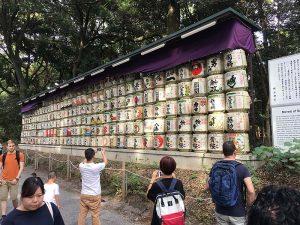 Sake barrels - the monks made sake