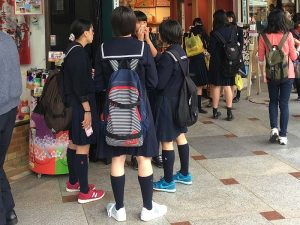 School girls in their uniforms
