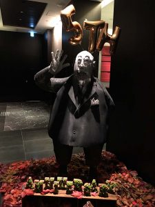 The statue in the hotel entrance