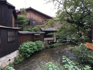 Stream in an old part of Kyoto