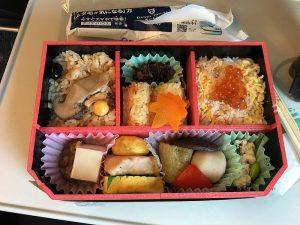 My bento box on the way to Kyoto