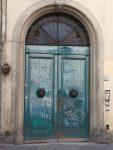 A cool graffitied door