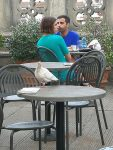 A large pigeon at the Uffizi cafe
