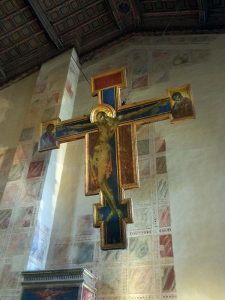 Cimabue's cross, damaged in the 1966 flood
