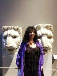 Aviva with two lions
