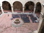 A view of the Bargello courtyard